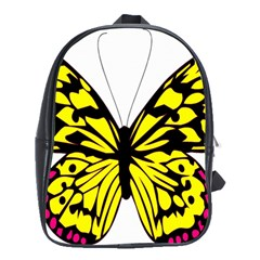 Yellow A Colorful Butterfly Image School Bags(large)