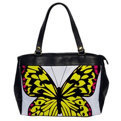 Yellow A Colorful Butterfly Image Office Handbags