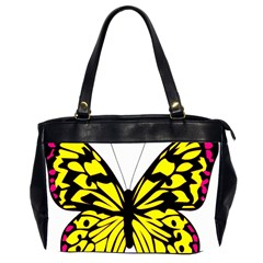 Yellow A Colorful Butterfly Image Office Handbags (2 Sides)