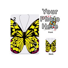 Yellow A Colorful Butterfly Image Playing Cards 54 (Mini)