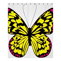 Yellow A Colorful Butterfly Image Shower Curtain 60  X 72  (medium)