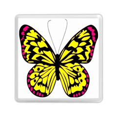 Yellow A Colorful Butterfly Image Memory Card Reader (square)