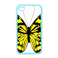 Yellow A Colorful Butterfly Image Apple Iphone 4 Case (color)