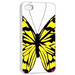 Yellow A Colorful Butterfly Image Apple iPhone 4/4s Seamless Case (White)