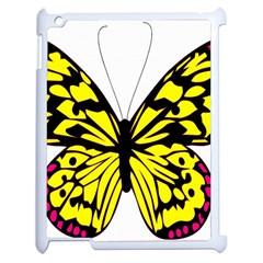 Yellow A Colorful Butterfly Image Apple iPad 2 Case (White)