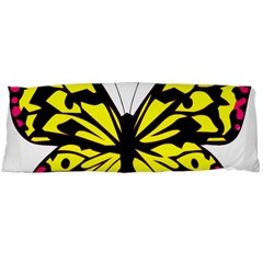 Yellow A Colorful Butterfly Image Body Pillow Case (Dakimakura)