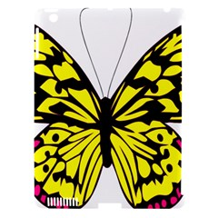 Yellow A Colorful Butterfly Image Apple iPad 3/4 Hardshell Case (Compatible with Smart Cover)