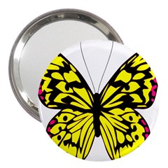 Yellow A Colorful Butterfly Image 3  Handbag Mirrors