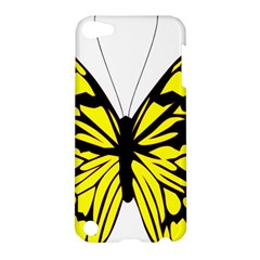 Yellow A Colorful Butterfly Image Apple iPod Touch 5 Hardshell Case