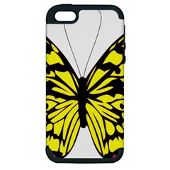 Yellow A Colorful Butterfly Image Apple iPhone 5 Hardshell Case (PC+Silicone)