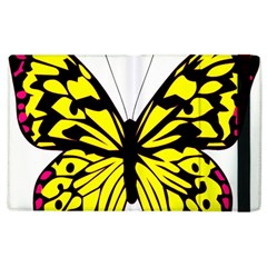Yellow A Colorful Butterfly Image Apple iPad 2 Flip Case