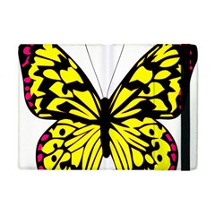 Yellow A Colorful Butterfly Image Apple iPad Mini Flip Case