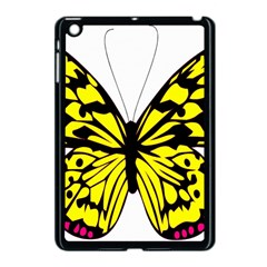Yellow A Colorful Butterfly Image Apple iPad Mini Case (Black)