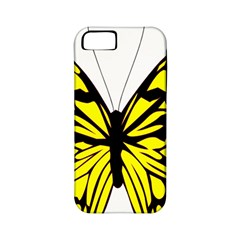 Yellow A Colorful Butterfly Image Apple iPhone 5 Classic Hardshell Case (PC+Silicone)