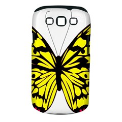 Yellow A Colorful Butterfly Image Samsung Galaxy S Iii Classic Hardshell Case (pc+silicone)