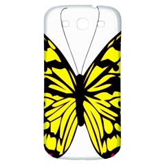 Yellow A Colorful Butterfly Image Samsung Galaxy S3 S Iii Classic Hardshell Back Case