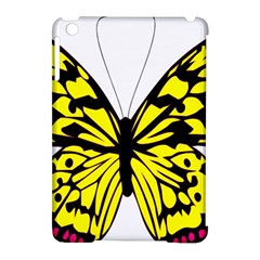 Yellow A Colorful Butterfly Image Apple iPad Mini Hardshell Case (Compatible with Smart Cover)