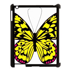 Yellow A Colorful Butterfly Image Apple Ipad 3/4 Case (black)