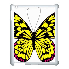 Yellow A Colorful Butterfly Image Apple iPad 3/4 Case (White)