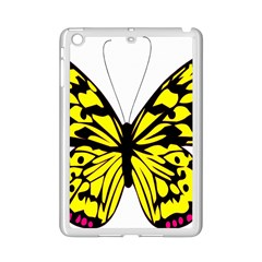 Yellow A Colorful Butterfly Image iPad Mini 2 Enamel Coated Cases