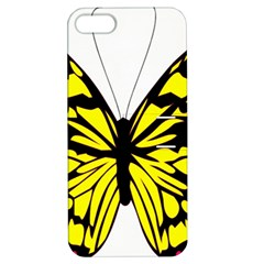 Yellow A Colorful Butterfly Image Apple iPhone 5 Hardshell Case with Stand