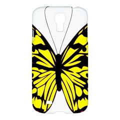 Yellow A Colorful Butterfly Image Samsung Galaxy S4 I9500/I9505 Hardshell Case