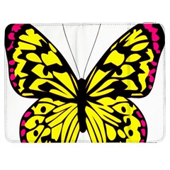Yellow A Colorful Butterfly Image Samsung Galaxy Tab 7  P1000 Flip Case