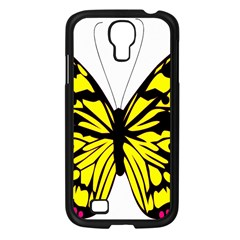 Yellow A Colorful Butterfly Image Samsung Galaxy S4 I9500/ I9505 Case (Black)