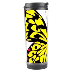 Yellow A Colorful Butterfly Image Travel Tumbler