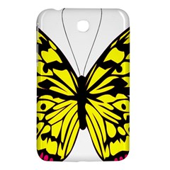 Yellow A Colorful Butterfly Image Samsung Galaxy Tab 3 (7 ) P3200 Hardshell Case