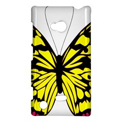 Yellow A Colorful Butterfly Image Nokia Lumia 720
