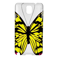 Yellow A Colorful Butterfly Image Samsung Galaxy Note 3 N9005 Hardshell Case