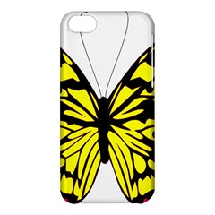 Yellow A Colorful Butterfly Image Apple iPhone 5C Hardshell Case