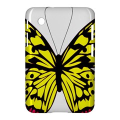 Yellow A Colorful Butterfly Image Samsung Galaxy Tab 2 (7 ) P3100 Hardshell Case