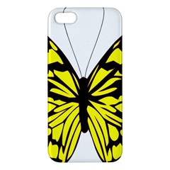 Yellow A Colorful Butterfly Image iPhone 5S/ SE Premium Hardshell Case