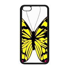 Yellow A Colorful Butterfly Image Apple iPhone 5C Seamless Case (Black)