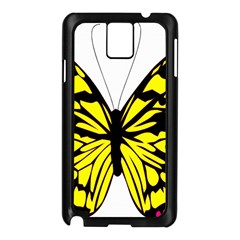 Yellow A Colorful Butterfly Image Samsung Galaxy Note 3 N9005 Case (Black)