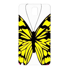 Yellow A Colorful Butterfly Image Samsung Galaxy Note 3 N9005 Hardshell Back Case
