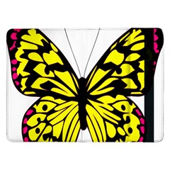 Yellow A Colorful Butterfly Image Samsung Galaxy Tab Pro 12.2  Flip Case
