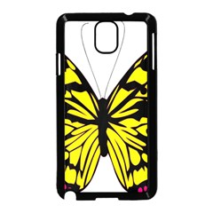 Yellow A Colorful Butterfly Image Samsung Galaxy Note 3 Neo Hardshell Case (Black)