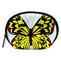 Yellow A Colorful Butterfly Image Accessory Pouches (Medium)