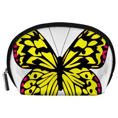 Yellow A Colorful Butterfly Image Accessory Pouches (large)