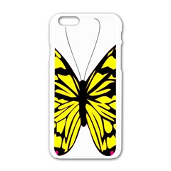 Yellow A Colorful Butterfly Image Apple Iphone 6/6s White Enamel Case
