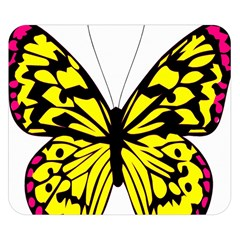 Yellow A Colorful Butterfly Image Double Sided Flano Blanket (small)