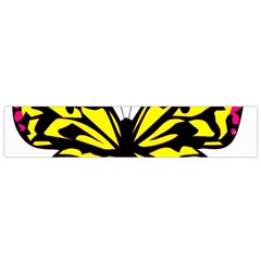 Yellow A Colorful Butterfly Image Flano Scarf (Small)