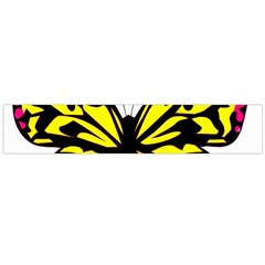Yellow A Colorful Butterfly Image Flano Scarf (Large)