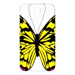 Yellow A Colorful Butterfly Image Samsung Galaxy Mega I9200 Hardshell Back Case