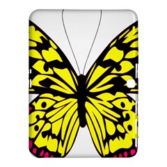 Yellow A Colorful Butterfly Image Samsung Galaxy Tab 4 (10 1 ) Hardshell Case