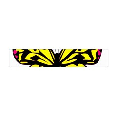 Yellow A Colorful Butterfly Image Flano Scarf (Mini)