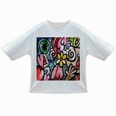 Digitally Painted Abstract Doodle Texture Infant/toddler T Shirts